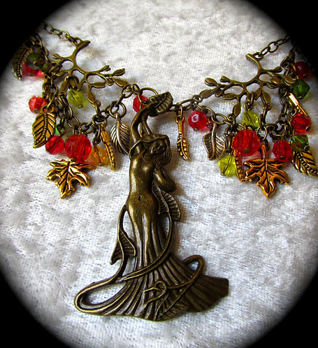 Diana Goddess of the Woodlands Necklace