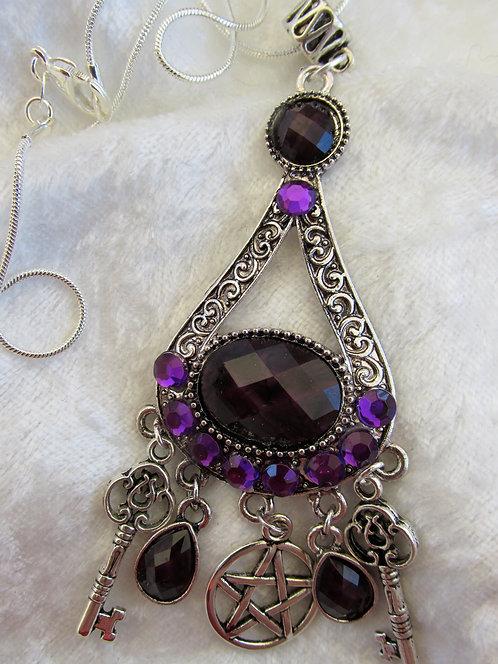 Purple Passion Pentacle Necklace