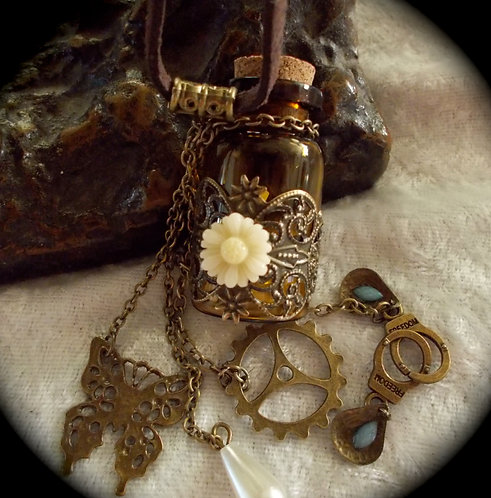 Wee Bit Amber Witch Bottle Necklace Your Choice