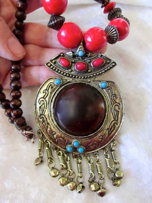 Brass Cauldron Necklace + Gift