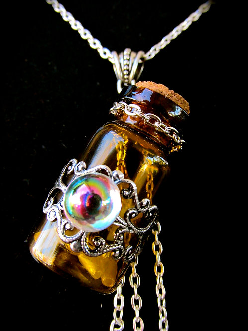 Wee Bit antique Silver Witch Bottle Necklace