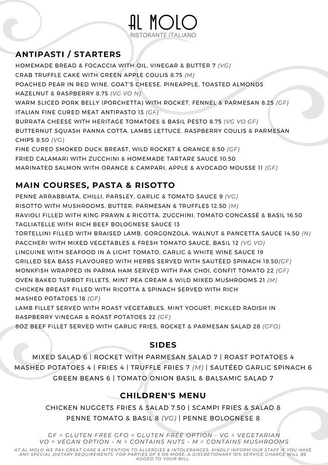 Al Molo - Ristorante Italiano - À La Carte Menu - July 2021 (1).png