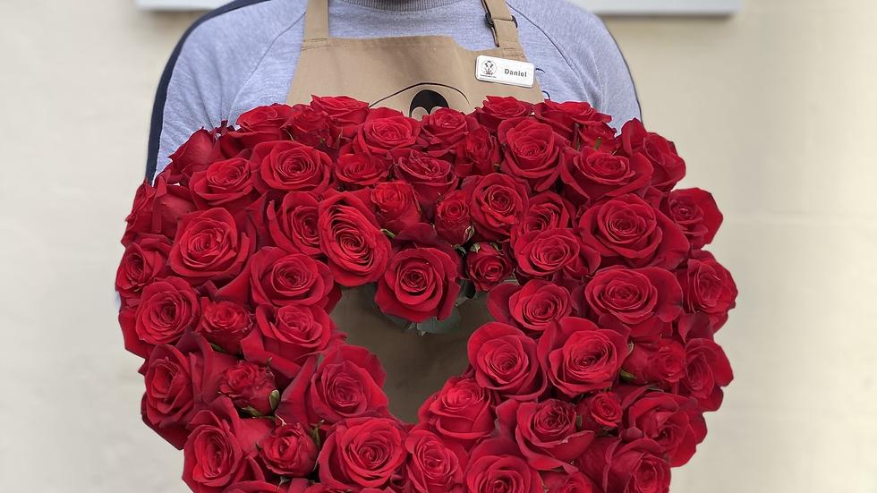Empty Rose heart