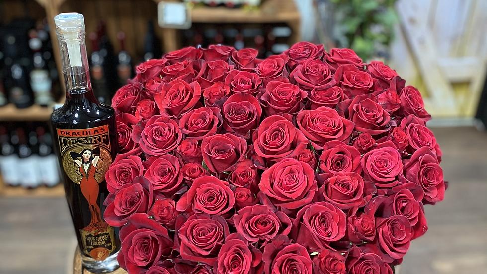 Dracula Desire and rose heart