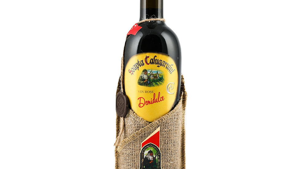Soapta Calugarului vin Rosu Demidulce semi sweet red Wine 75cl