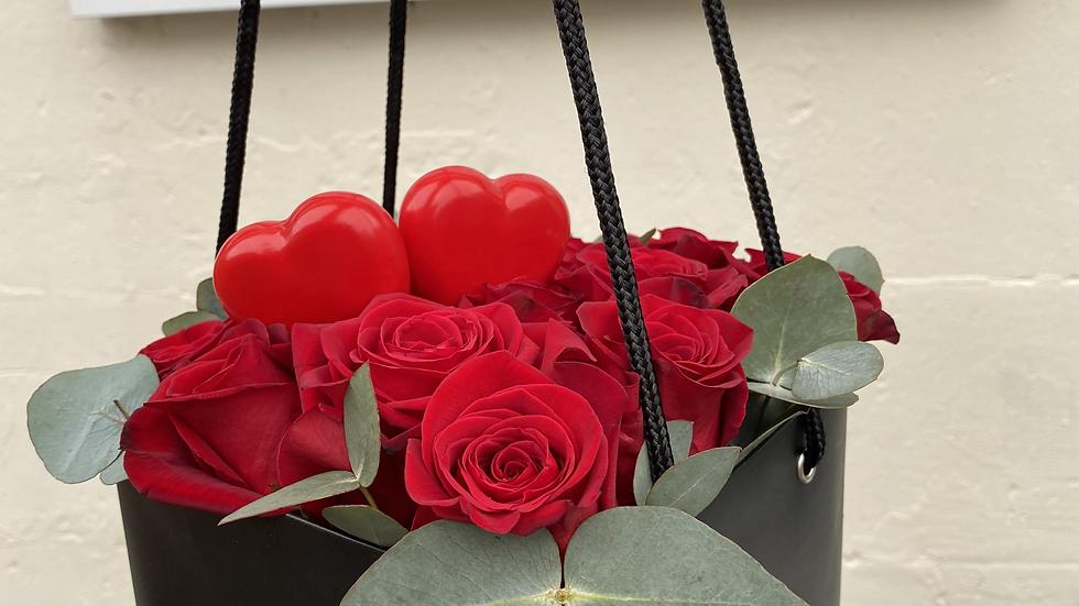 Black box roses bouquet