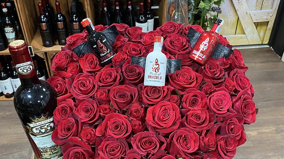 Feteasca Neagra 555 Dracula and rose heart