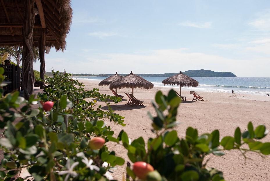 Pristine beach in Riviera Nayarit