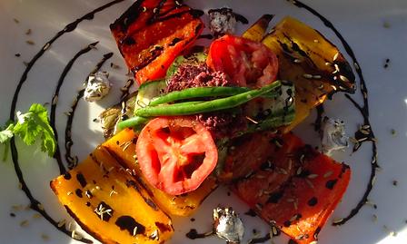 Deliciosos vegetales al grill