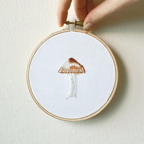 Mini mushroom embroidery