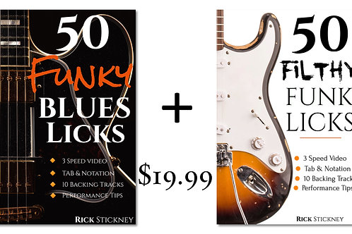 50 Funky Blues + 50 Filthy Funk Licks Bundle