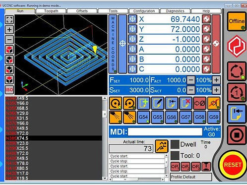 UCCNC Motion control software
