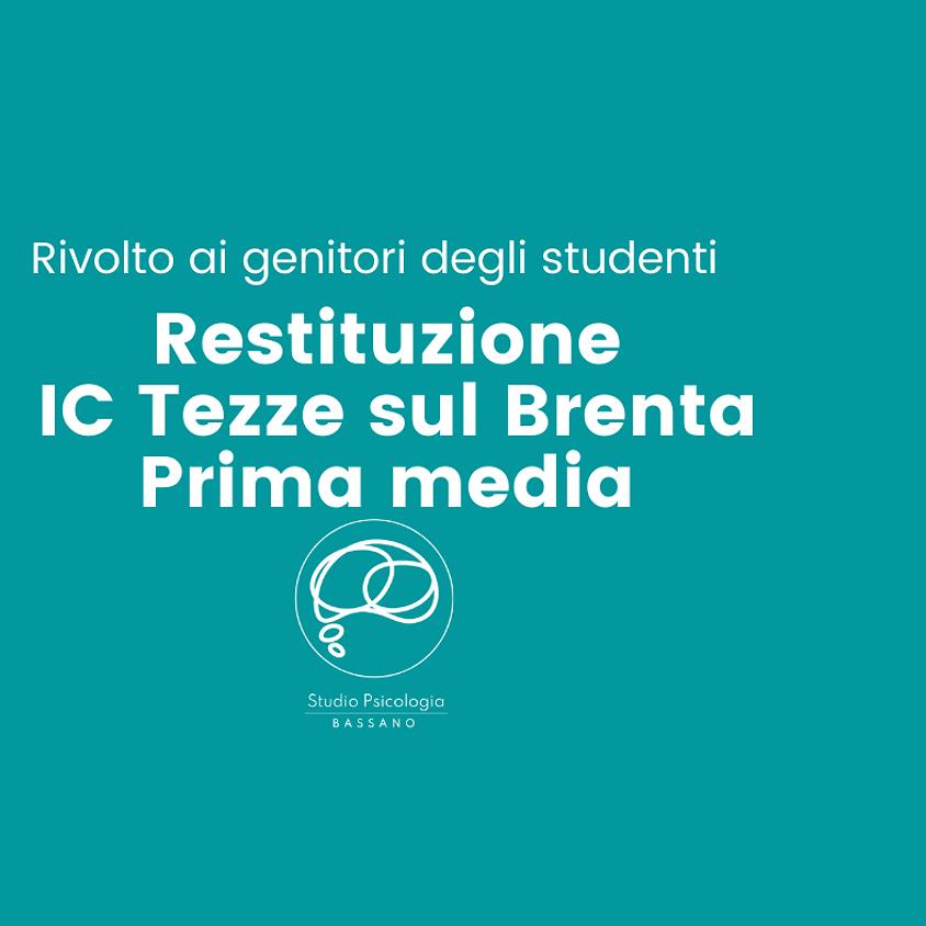 Restituzione Genitori IC Tezze - Prima media