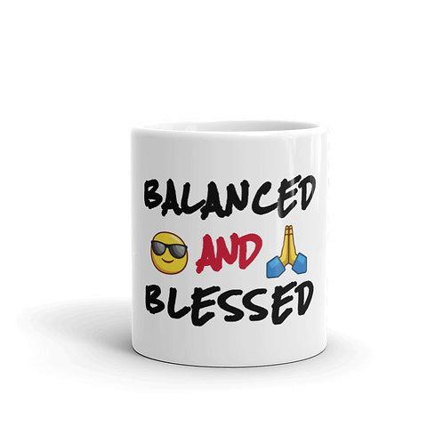 BALANCED AND BLESSED MUG