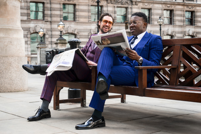 Tom Coulston and Taiwo Paul Meghoma photographed by Snappyclicky for David Wej