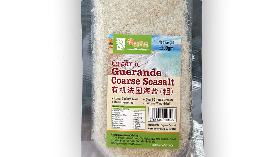 Organic Guerande Coarse Sea salt 200 g 有机法国海盐(粗) 200克