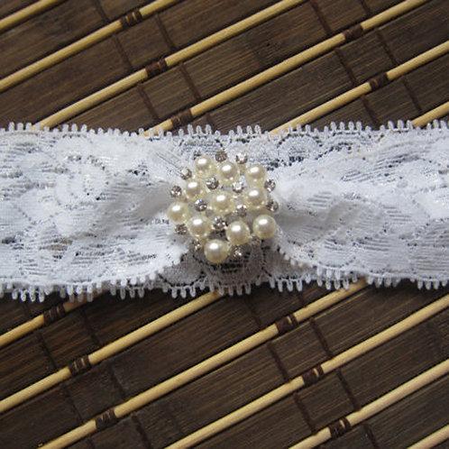 Lace Headband w/Pearls