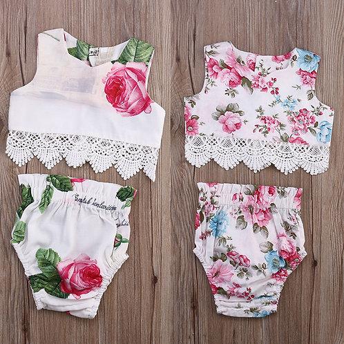 Floral Rosette 2-pc Lace