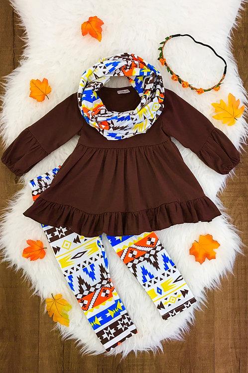 Aztec 3pc Scarf Pants Set