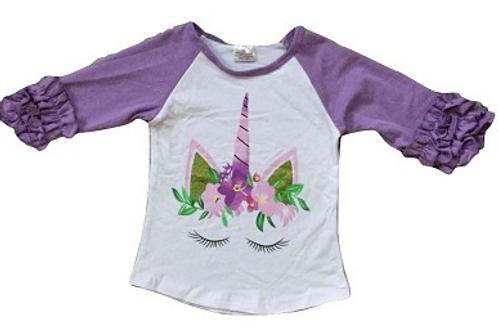 Purple Unicorn Raglan