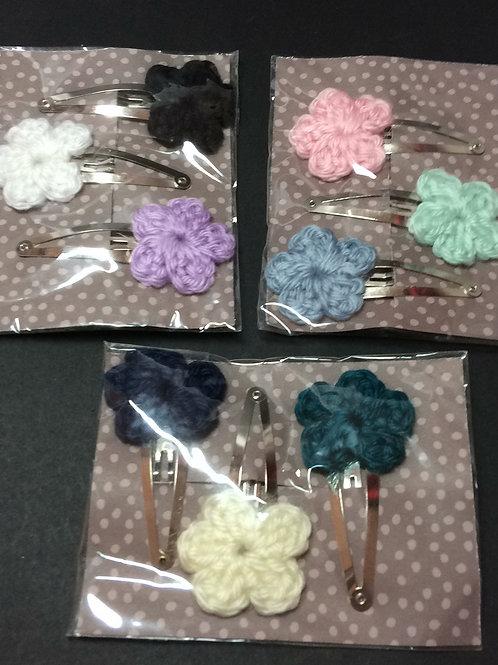 Crochet Flower Baret Set