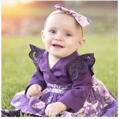 Purple Lace Onesie