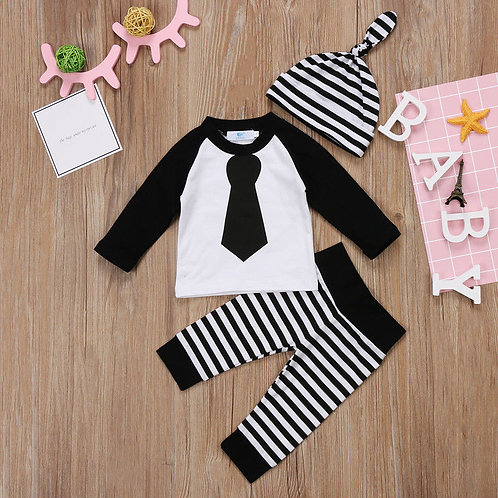 Striped Tie 3pc Outfit