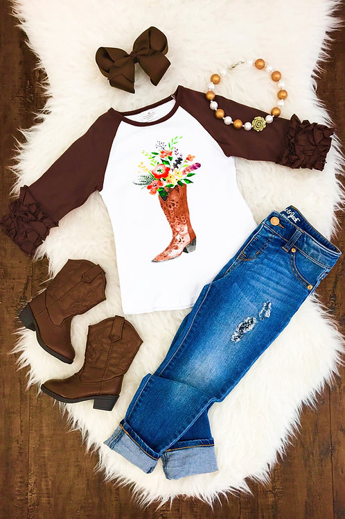 Brown Boot  Shirt