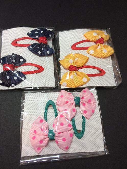 Polkadot Hair clip Set
