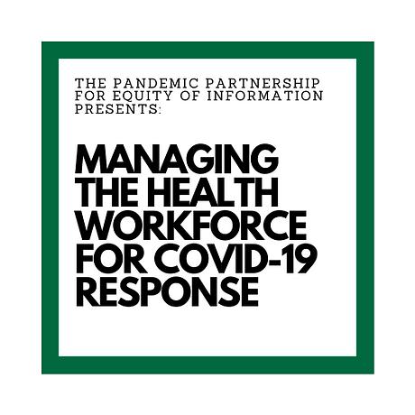 Managing the Health Workforce