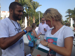 from the book launch at Cannes lions