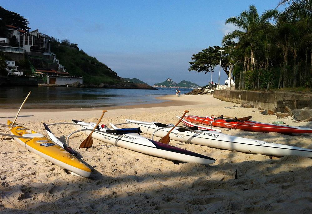 As canoas havaianas OC1: Lokahi, Pumau, Nascente e Bahari