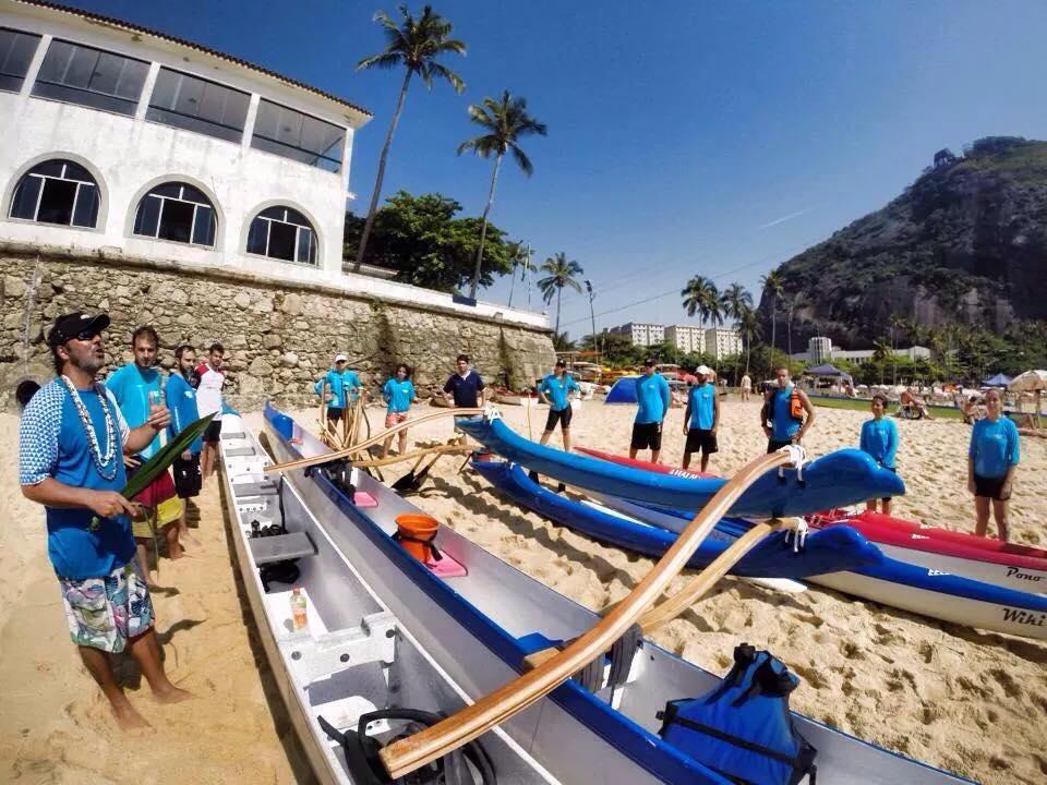 Bênção de Canoas na Praia Vermelha