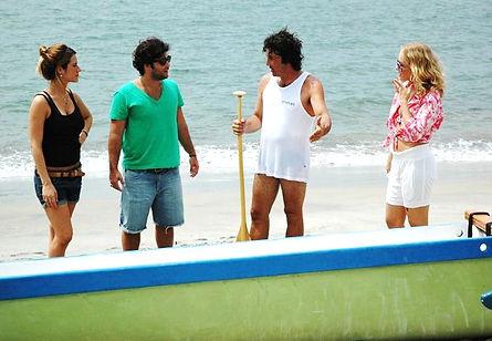 Marcelo Depardo no programa Estrelas, apresentando a Canoa Havaiana