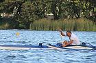 Marcelo Depardo no Mundial de Va'a na Lagoa Rodrigos de Freitas