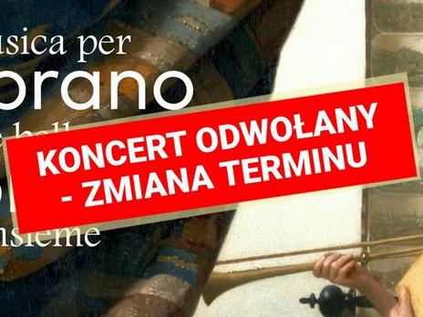 Koncert 31.7.2021 anulowany