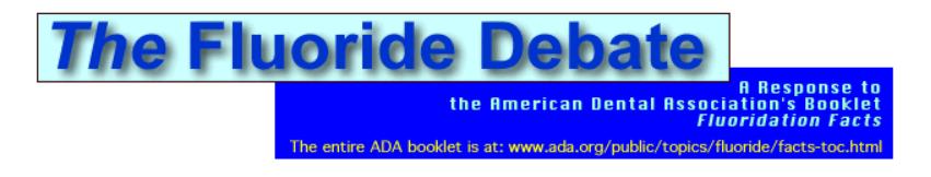 FLUORIDE DEBATE RESPONSE TO ADA