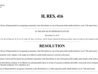 The Pro-Fluoridationists are lobbying the Senate