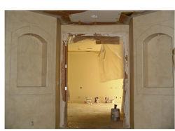 faux stone niches