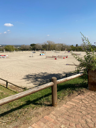 Jumping arena in Summer.