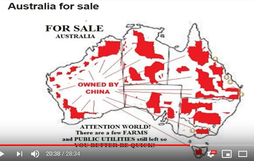 Australia has been sold  - 90% of Australia been sold to the Chinese