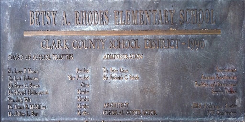 Rhodes Plaque