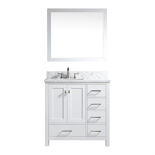 "Bathroom Vanity Set GRD10 - 36"" with Counter Top and Sink"