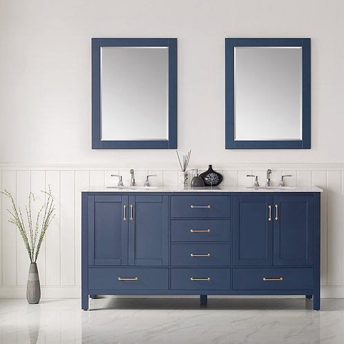 """Bathroom Vanity Set GRD10 - 72"""" - Gela Series with Counter Top and Double Sink"""