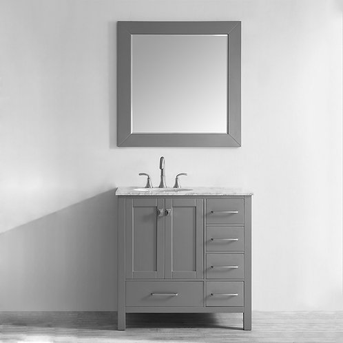 "Bathroom Vanity Set GRD10 - 36"" Gela Series with Counter Top and Sink"