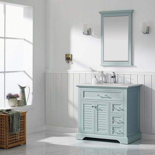 "Bathroom Vanity Set GRD7830 - Lorma 36"" Vanity with Counter Top and Sink"
