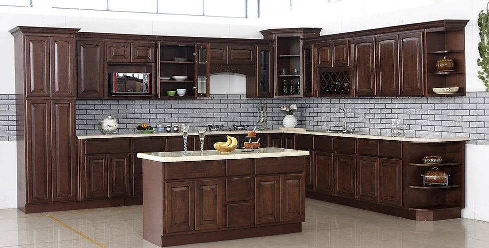 Framed Kitchen Cabinet Cherry Arch Header