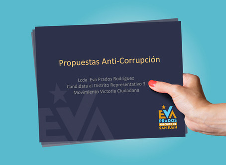 Candidata a la legislatura por el Movimiento Victoria Ciudadana presenta propuestas anticorrupción