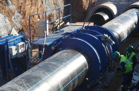 Conducción de Agua potable con PEAD