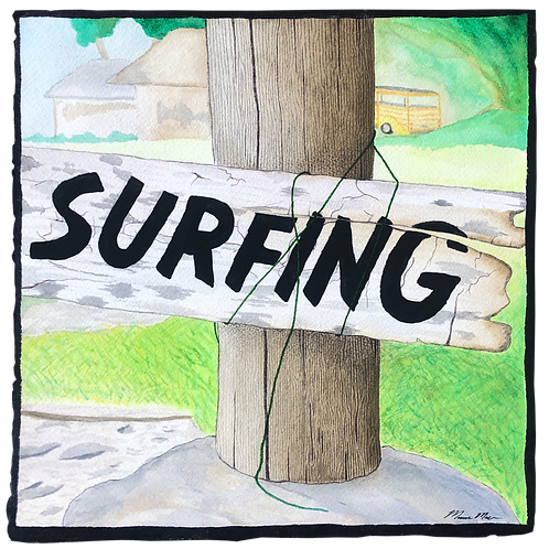 Surf Sign - Water Color